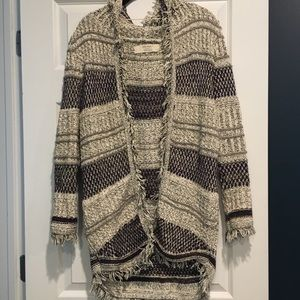 Zara Knit hooded patterned Sweater